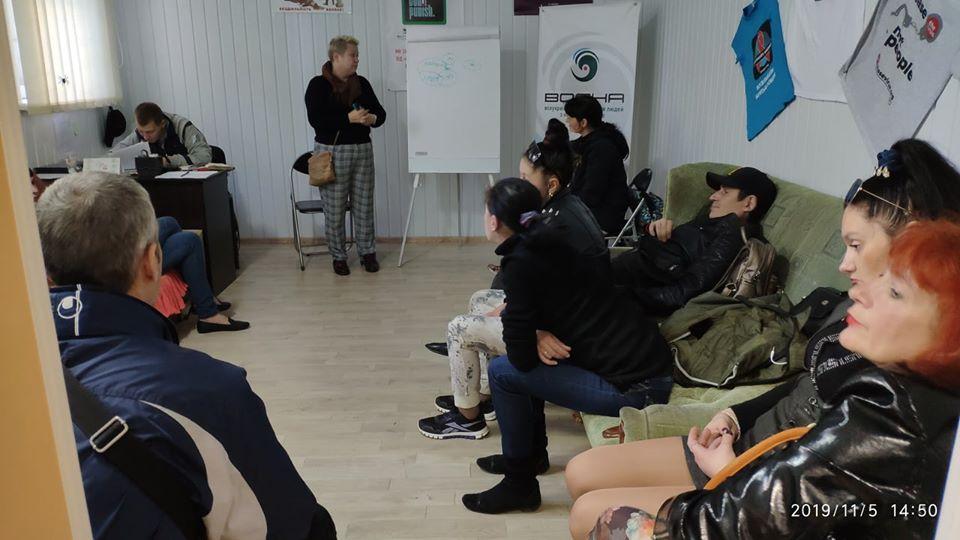 Зустріч ініціативної групи жінок, які живуть з наркозалежністю, в м. Одеса з тренеркою та фахівчинею з адвокації